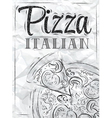 Poster Pizza Paper vector image