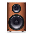 stereo speaker with no cover on a white background vector image vector image