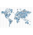 Stock exchange finance world map concept vector image vector image