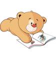 A stuffed toy bear cub cartoon vector image