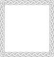 black line box braid vector image vector image
