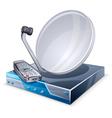 satellite tuner vector image vector image