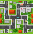 Top view city seamless vector image
