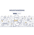Mountaineering Doodle Concept vector image