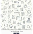 Education wallpaper Black and white school or vector image vector image