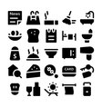 Hotel and Restaurant Icons 7 vector image