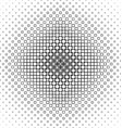 Black and white abstract square pattern background vector image