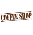 coffee shop stamp vector image