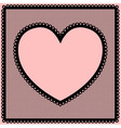 Lacy heart frame vector image