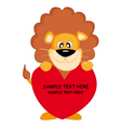 lion with a heart vector image