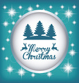 merry christmas design vector image