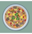 Soup plate vector image
