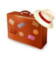 Travel bag and cap vector image