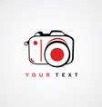 photography logo camera theme logotype vector image
