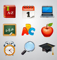 School icons-set 2 vector image vector image