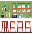 kitchen room design vector image