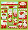 springtime holiday greeting tag and gift label set vector image