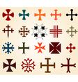 crosses set vector image vector image