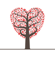 Love tree with space for text vector image