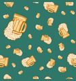 beer mug seamless pattern vector image
