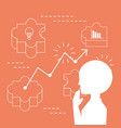 businessman thinking and planning ideas vector image
