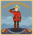 Canadian royal police vector image