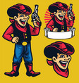 cheerful young cowboy mascot vector image
