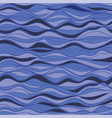hand-drawn marine pattern waves background vector image