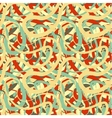 Lines in retro colours abstract seamless pattern vector image