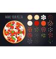 Make Pizza Ingredients Set vector image