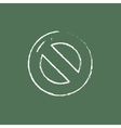 Not allowed sign icon drawn in chalk vector image