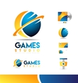 Sphere 3d logo icon design vector image