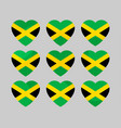 heart with jamaican flag i love jamaica vector image
