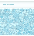 Abstract swirls horizontal torn seamless pattern vector image vector image