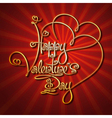 Glamorous Gold Happy Valentines Day vector image vector image