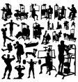 fitness men vector image vector image