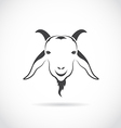 image of an goat head vector image