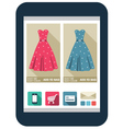 Online shop on the tablet screen vector image