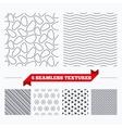 Stone tiles geometric seamless pattern vector image