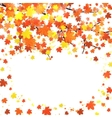 Autumn banner template with blank space for text vector image