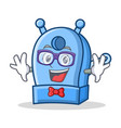 geek pencil sharpener character cartoon vector image