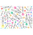 hand drawn of lovely christmas lights background vector image
