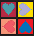 heart turnaround images set vector image
