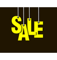 Letters sale hanging on a ropes vector image