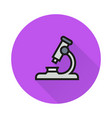 Microscope icon on round background vector image