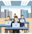 People working in a call center Support service vector image