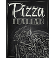 Poster Pizza chalk vector image