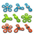 set of colorful fidget spinners vector image
