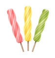 Spiral Popsicle Lollipop Fruit Juice Ice on Stick vector image