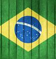 Wooden Flag of Brazil vector image
